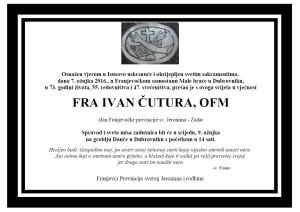 OSMRTNICA FRA IVAN ČUTURA