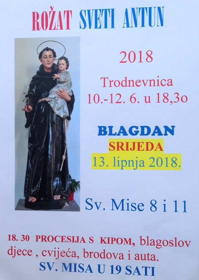 TRODNEVNICA SV. ANTI OD 10. DO 12. VI. 2018.