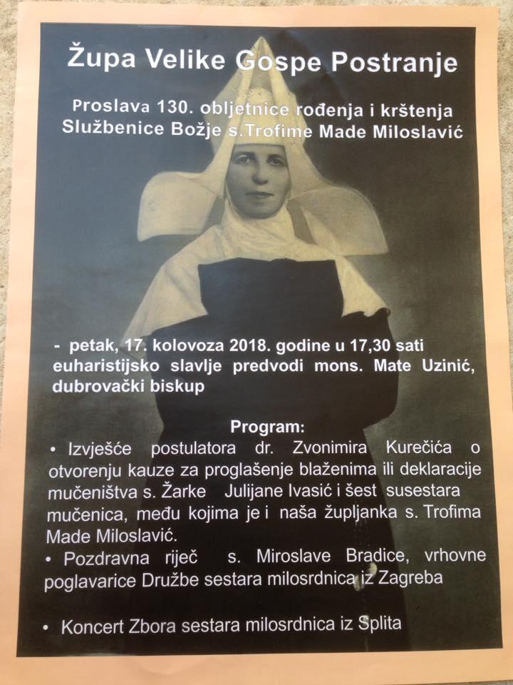 SESTRE MILOSRDNICE U ROŽATU, 17. VIII. 2018.