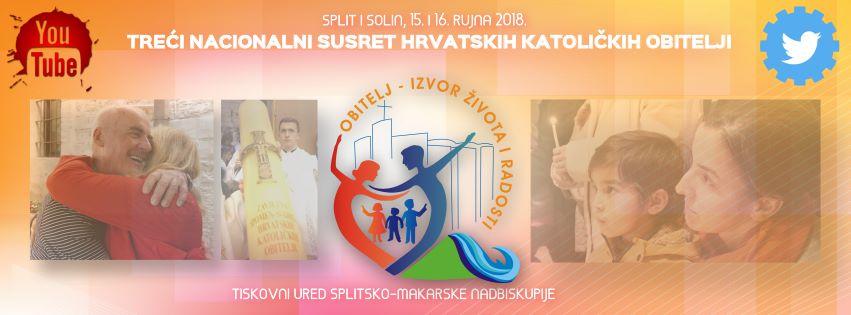 Treći nacionalni susret hrvatskih katoličkih obitelj u Solinu, 16. rujna 2018.