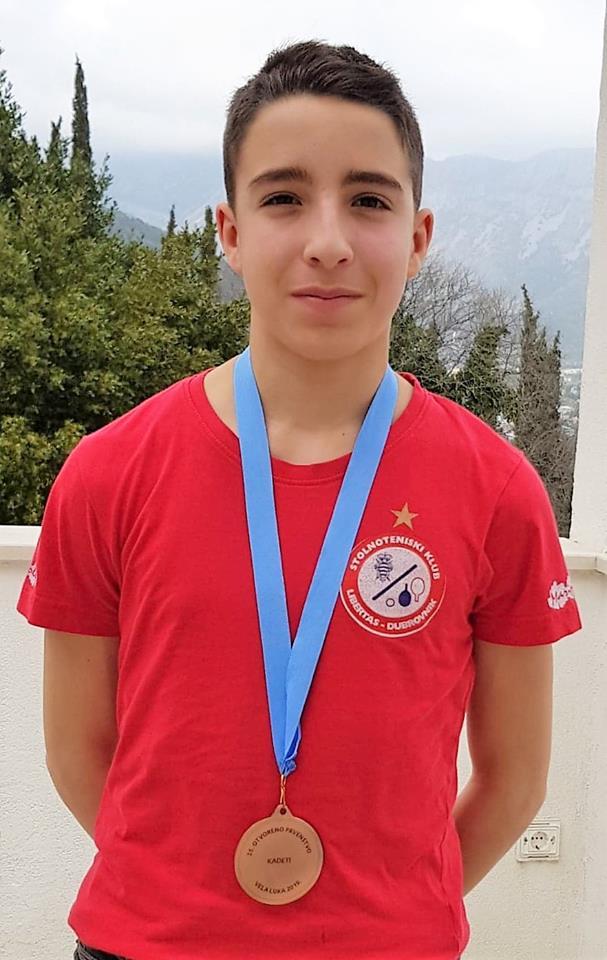 Naš ministrant kadet Đino Radinković osvojio 3. mjesto.