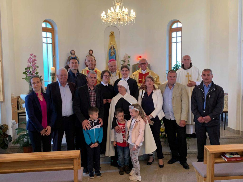 Redovnički zavjeti i ulazak u novicijat u Sasini