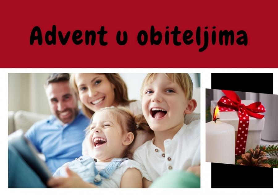 """Listić """"Advent u obiteljima"""" za 1. nedjelju došašća. Pošaljite fotografije svoje obitelji uz adventski vijenac"""
