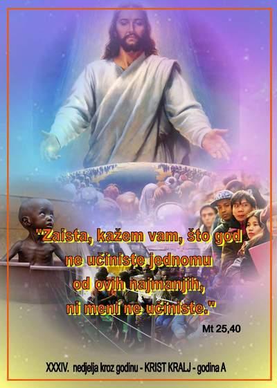 XXXIV.  NEDJELJA KROZ GODINU KRIST KRALJ A 2020.