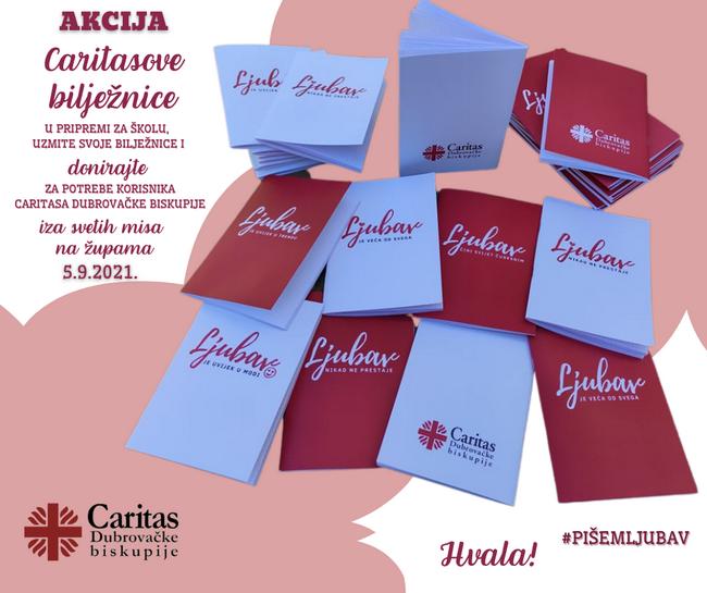 CARITASOVE BILJEŽNICE: Novčanim prilogom pomažete korisnicima biskupijskog Caritasa i dobivate poruke ljubavi